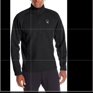 Spyder outbound black core quarter zip sweater